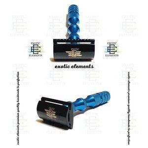 Stainless Steel Black & Blue Safety Shaving Razor